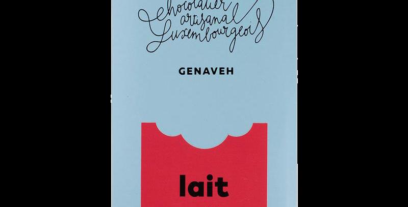 Tablette Chocolat Pur Lait 40% - Genaveh - 100 gr