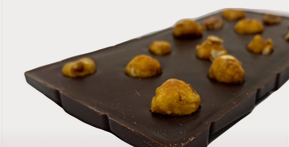 Tablette chocolat noir/noisette 100 gr - Artisanat Certifié