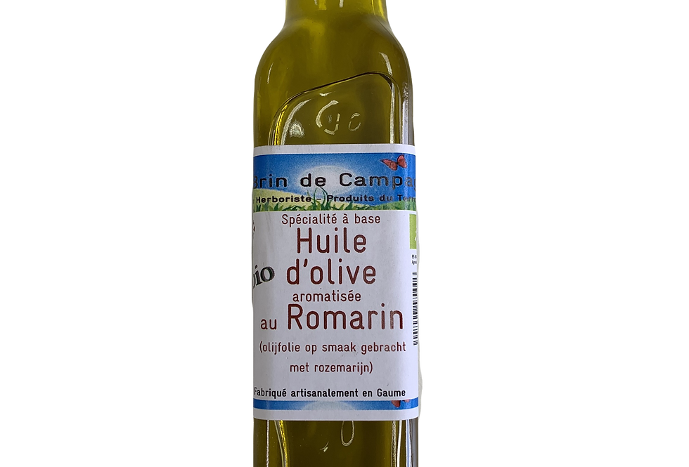 Huile d'olive aromatisée au Romarin - Un brin de Campagne - 0,25L g
