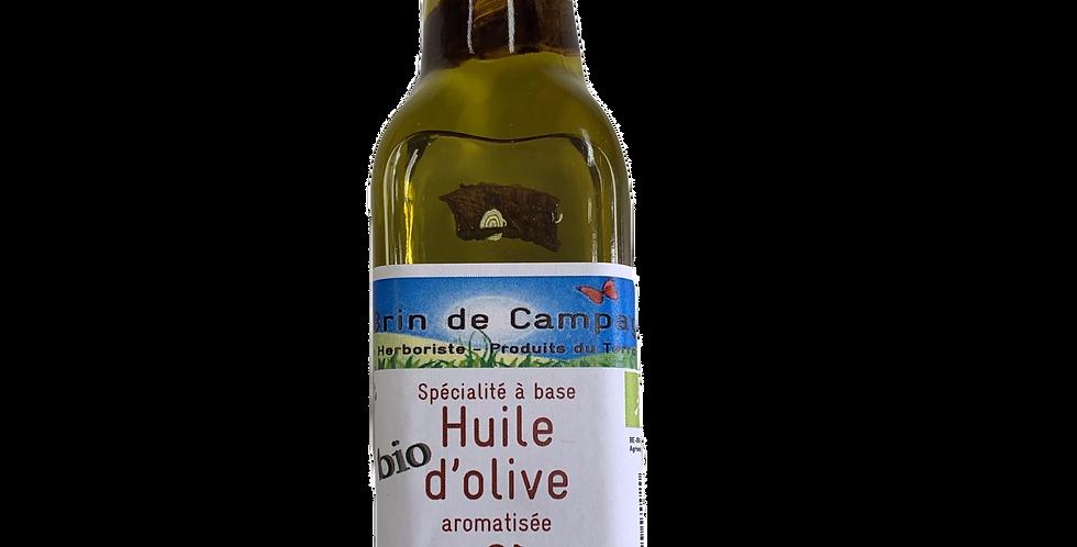 Huile d'olive aromatisée aux Cèpes - Un brin de Campagne - 0.25Lg