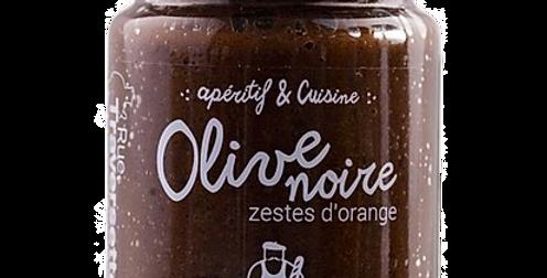Olive noire - aux zestes d'orange - 90 gr