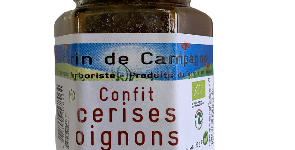 Confit Cerises Oignons - Un brin de Campagne - 130 gr