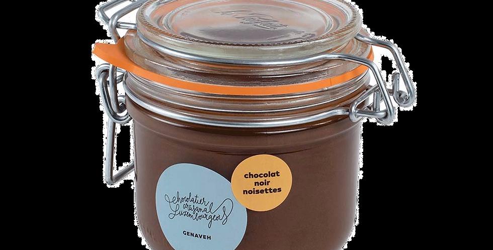 Pâte à Tartiner Chocolat Noir Noisette - Genaveh - 250 gr