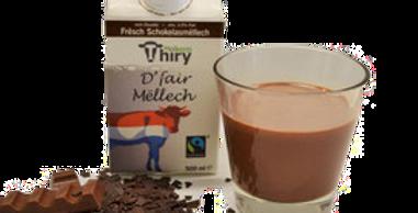 Lait frais entier chocolaté 3,5 % M.G - Thiry Molkerei - 500ml