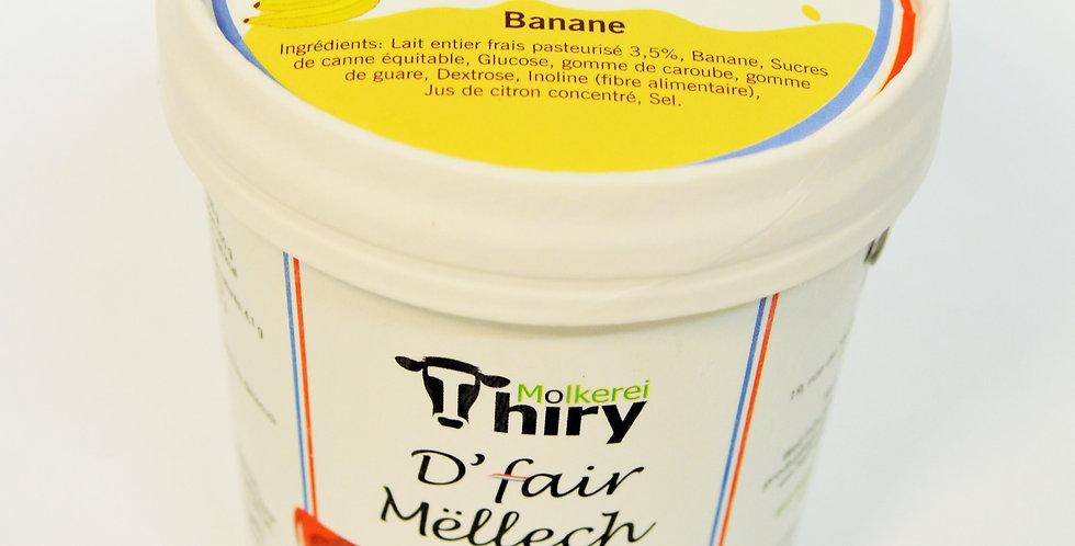 Glace artisanale à la banane de la Ferme Thiry