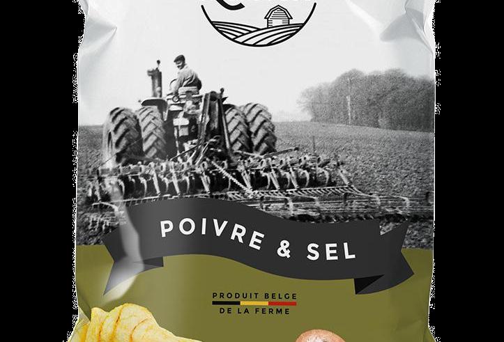 Les Chips de Lucien - Poivre et Sel - 125 gr