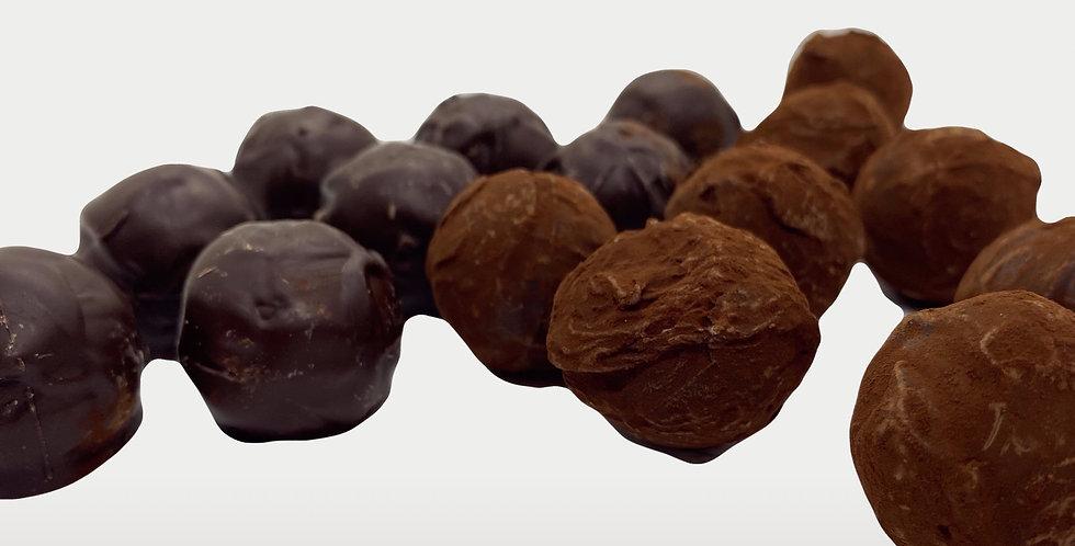 Mix truffe caramel/chocolat noir vanille 16 pièces - Artisanat Certifié