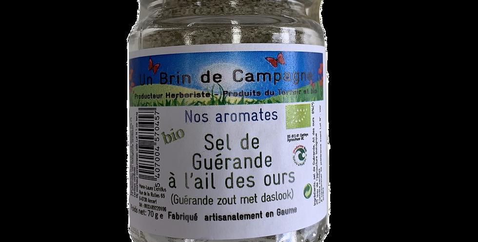 Sel de Guérande à l'ail des ours BIO - Un brin de Campagne - 70 gr