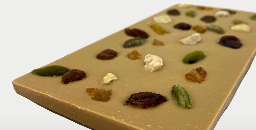 Tablette Chocolat Dulcey Mendiant 100 gr - Artisanat Certifié