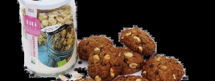 Lili Bulk - Mes Cookies Choc'Cacahuète BIO