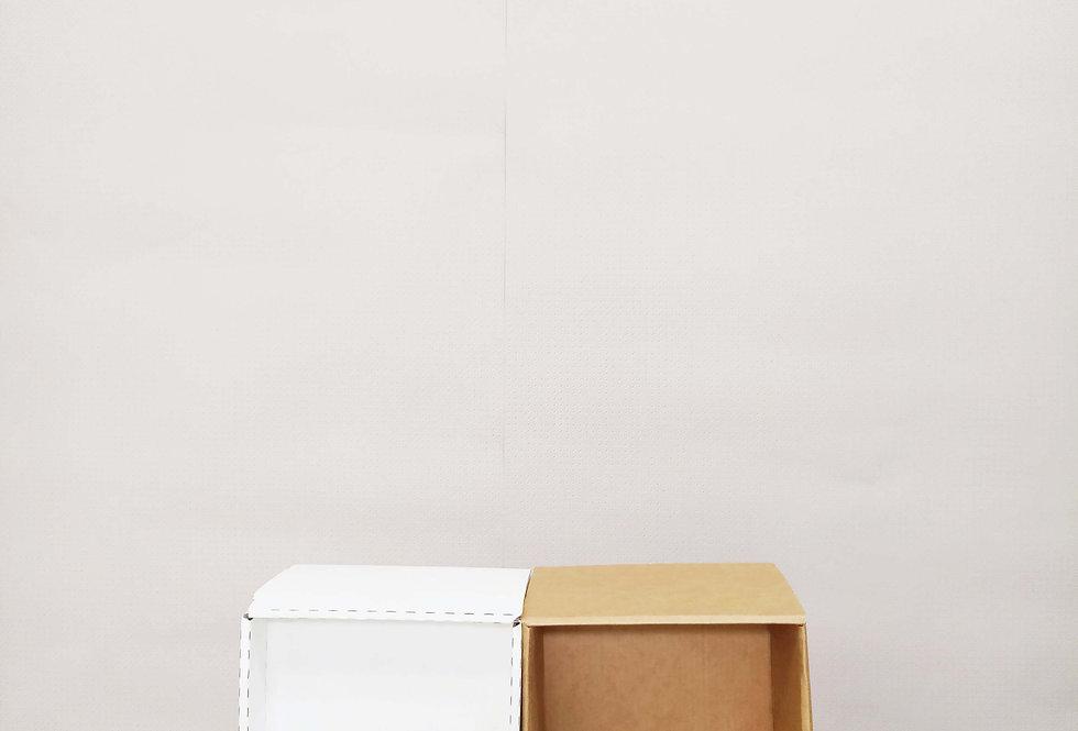 Karton.kashpo/квадрат 13.5 белый