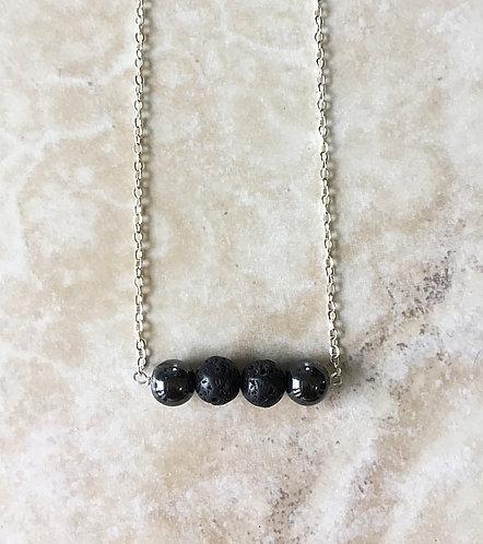 Hematite Lava Necklace