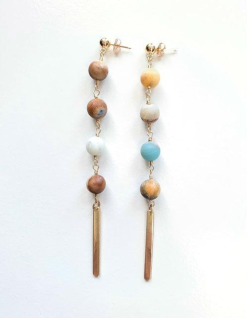 Matte Amazonite Earrings
