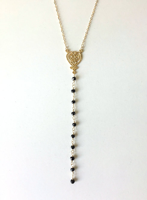 Spinel Lariat Necklace