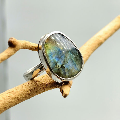 Labradorite Goddess Ring