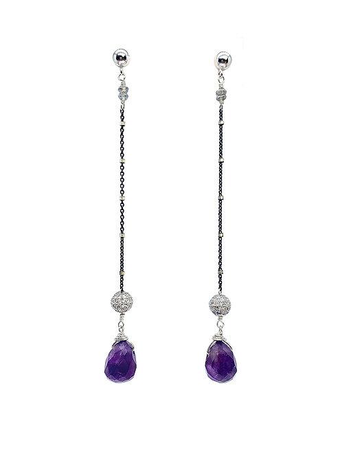 Amethyst Swarovski Earrings