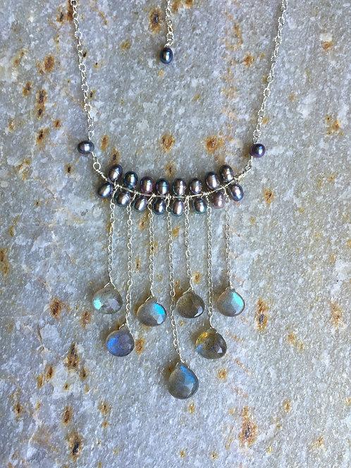Labradorite Raindrop Necklace