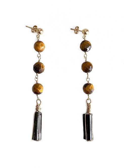Tourmaline Bar Earrings