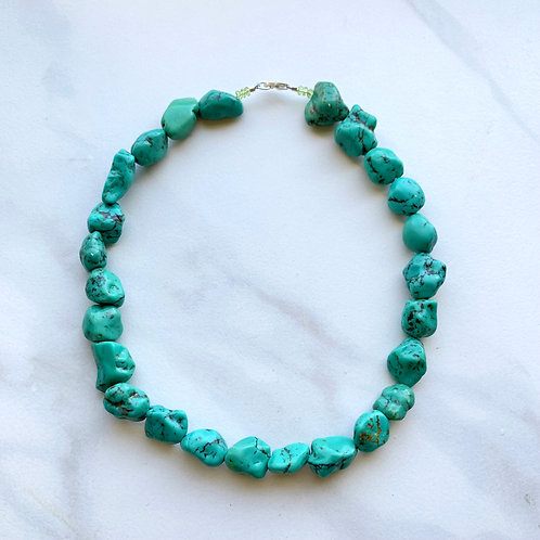 Turquoise Nugget Choker