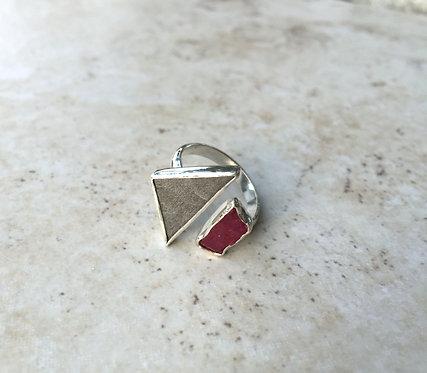 Meteorite Ruby Ring