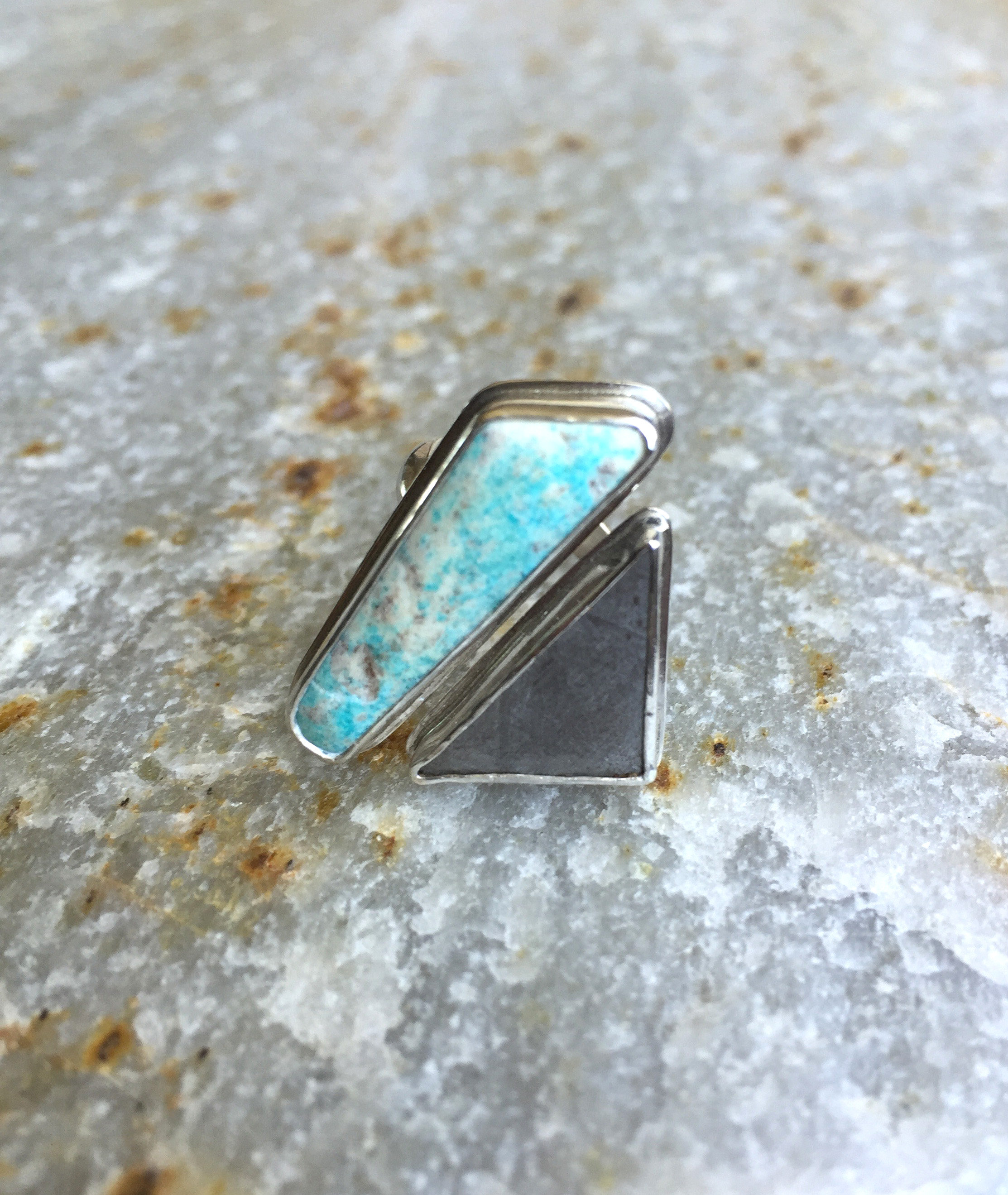 Sterling Silver Mona Lisa Turquoise Ring