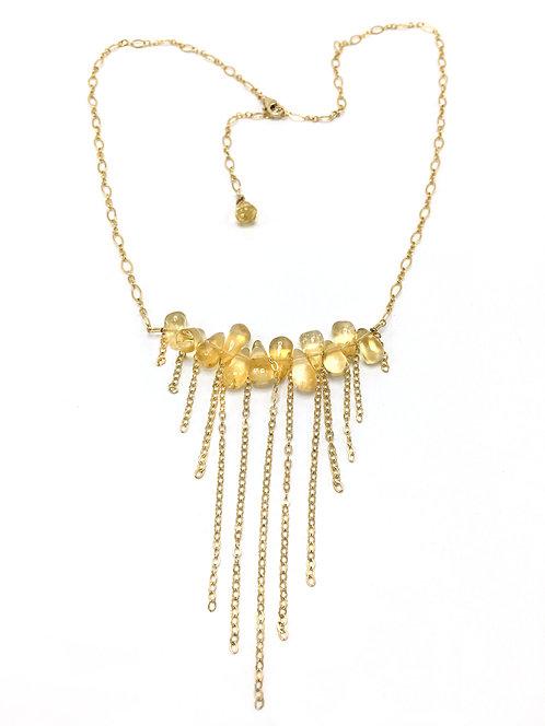 Citrine Cascade Necklace