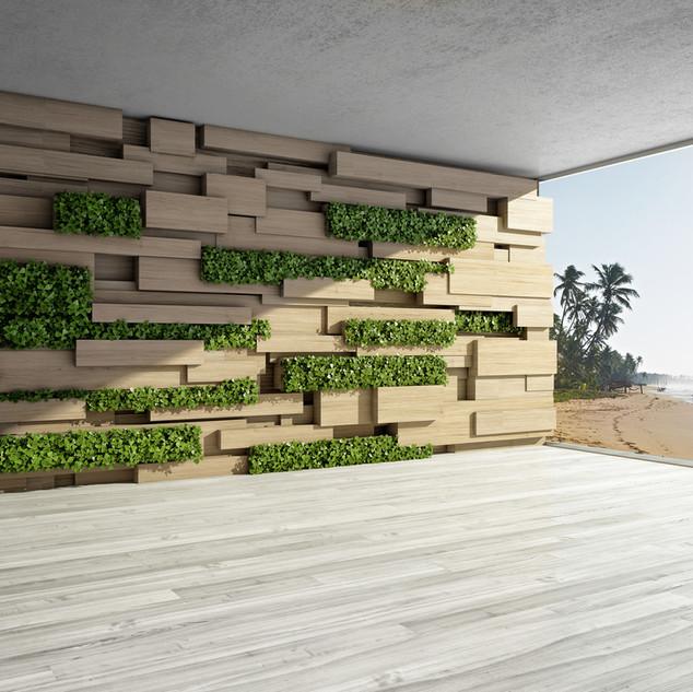 Modern Green Squares