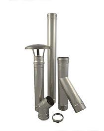 Conduit de fumée simple paroi en inox 316 pour le tubage et la création de conduit de fumée pour chaudières à condensation