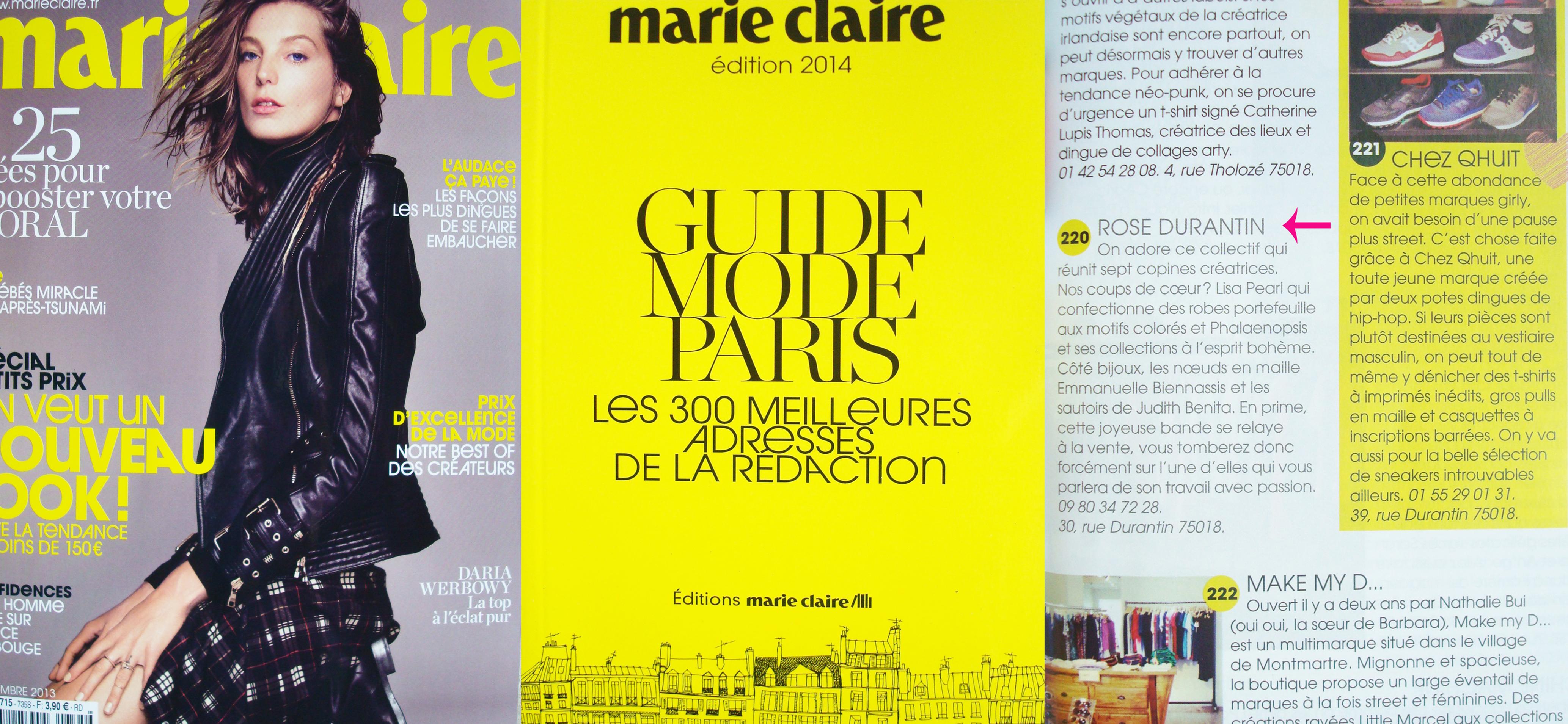 Dans le Guide Mode Paris