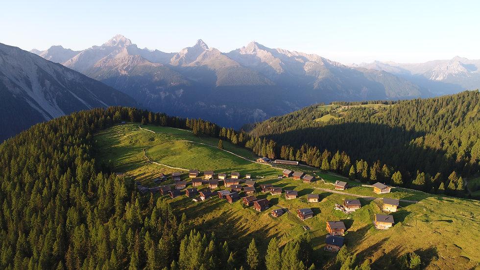 A Luftbild Wiesner Alp mit Ela im Hinter