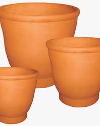 Vasos copa de barro