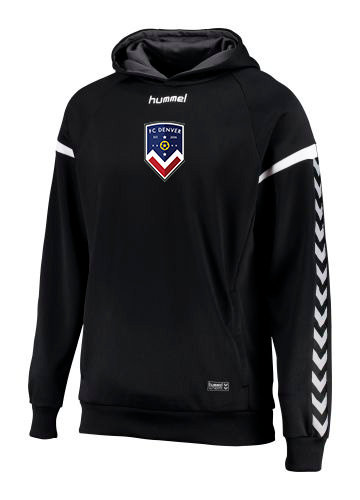 AUTHENTIC CHARGE POLY HOODIE BLK with FCD Badge