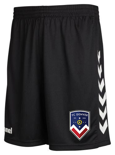 FCD CORE POLY SHORTS BLK with FCD BADGE