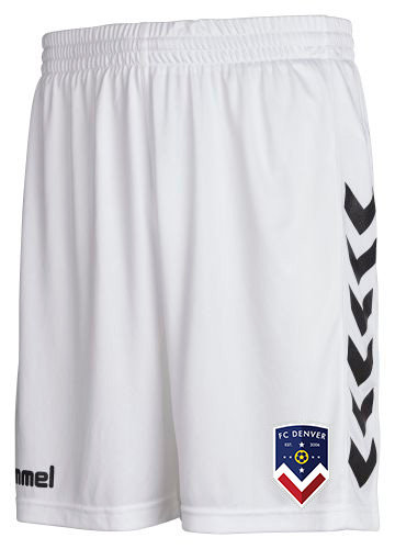 FCD CORE POLY SHORTS WHT with FCD BADGE