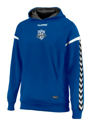 AUTHENTIC CHARGE POLY HOODIE BLUE with Ice Badge
