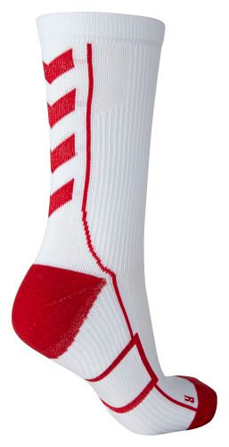 TECH INDOOR SOCK LOW WHITE/RED KICKERS
