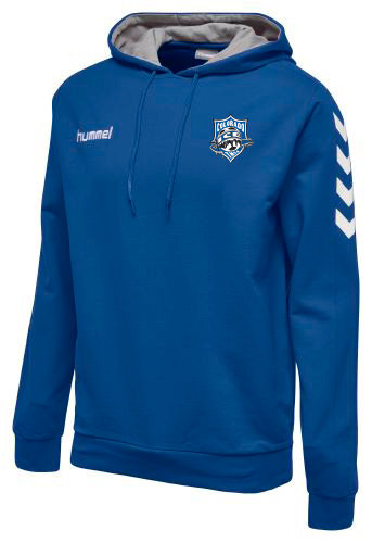 CORE COTTON HOODIE BLUE with Ice Badge