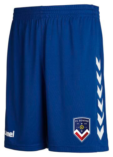 FCD CORE POLY SHORTS BLUE with FCD BADGE