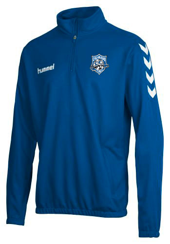 Colorado Ice CORE 1/2 ZIP SWEAT BLUE with Ice Badge