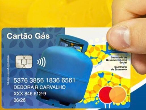 Retirada do Cartão Gás começa nesta quarta-feira (29)