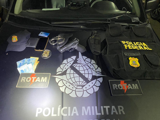 Falso policial federal e latrocida são presos em Ceilândia