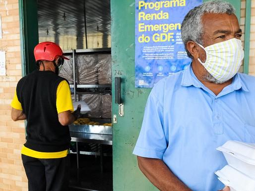 Restaurantes comunitários: entrega de marmitas continua