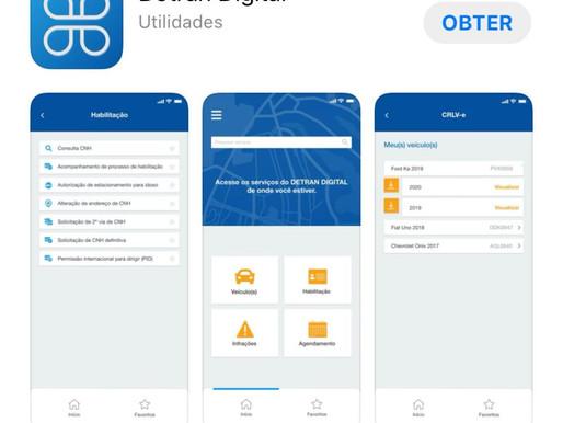 App Detran Digital oferece cinco novos serviços