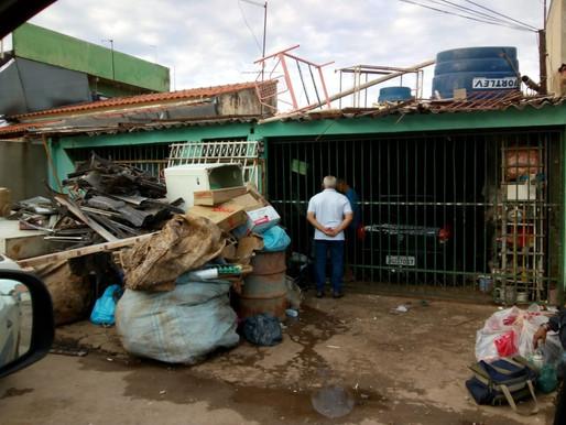 Ação de combate à dengue encontra acumulador em Ceilândia