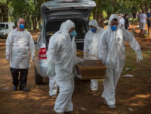 Covid-19: Brasil tem novo recorde de mortes em 24h e chega a 12.400 óbitos