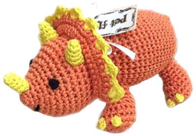 Knit Knacks Triceratops Toy