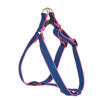 Navy and Pink Bamboo Harness