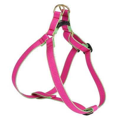 Pink and Lime Bamboo Harness