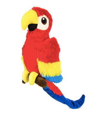 Paula Parrot Stuffed Dog Toy