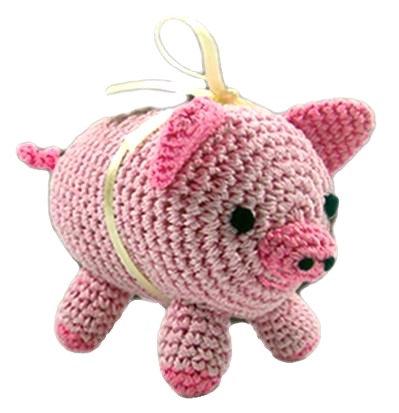 Knit Knacks Piggy Toy